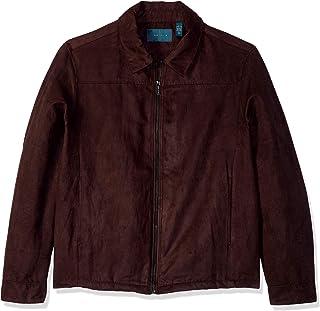 Perry Ellis 男式高大仿麂皮衬衫夹克