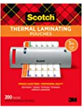 Scotch Thermal Laminating Pouches, 8.9 x 11.4-Inches, 3 mil…
