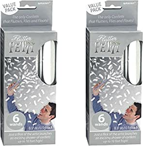 AP 2 件装 6 个 Amscan 银色飘边纸巾纸五彩纸屑棒 Maven Gifts 捆绑