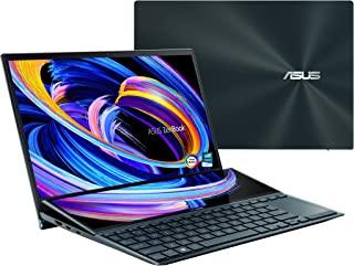 ASUS 华硕 ZenBook Pro Duo 15 OLED UX582 笔记本电脑,15.6 英寸 OLED 4K 超高清触摸屏,Intel Core i9-10980HK,32GB RAM,1TB SSD,GeForce RTX 307...