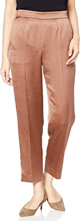 NATURAL BEAUTY BASIC 裤子 缎面小脚裤 女士 017-0230479