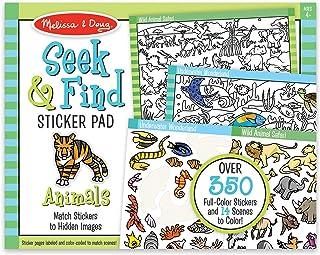 Melissa & Doug Seek and Find 贴纸垫–动物