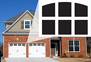 Jones Mountain 车库门窗磁贴装饰性磁性窗户贴花 适用于 2 辆汽车金属车库门户外预切,方便安装磁尺,美国制造 JMC002