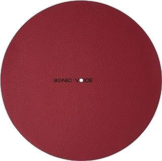 声音优化红色皮革保护套,适用于声波录音播放器。 由粗糙真皮制成,打造精细清晰的音色