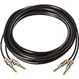 AmazonBasics 亚马逊倍思 扬声器电缆带镀金香蕉头 - CL2 - 99.9% 无氧 - 3.7 米
