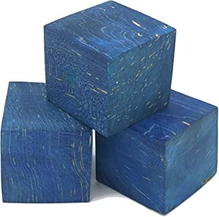 稳定木坯料,用于戒指制作和木头转动(盒老牛 - 蓝色)