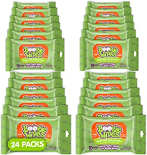 Boogie Wipes Saline Travel Pack Nose Wipes, Fresh Scent, 10 Count (Pack of 24)