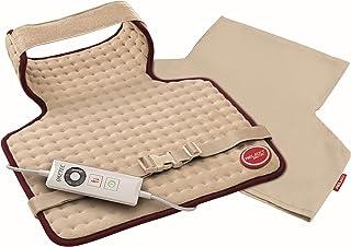 Imetec 16060C 加热枕头 适用于颈部/背部 / 肩,15 W - *大110 W Relax IntelliSense,52 x 38 厘米,米色/勃艮*红