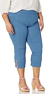 SLIM-SATION 女式纯色露脐裤