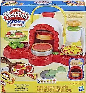 Play-Doh 印章和*披萨烤箱玩具,带 5 种*的 Play-Doh 颜色
