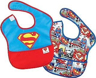 Bumkins DC Comics SuperBib, Superman Icon, 6-24 Months, 2 Pack