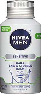 NIVEA 妮维雅 男士敏感肌肤和胡茬膏 - 男士面部乳液 适用于剃须前后 - 4.2 液体盎司(100 毫升) 瓶装