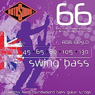Rotosound 不锈钢圆绕贝斯吉他弦双球端,标准规格 45 / 65 / 85 / 105 / 130