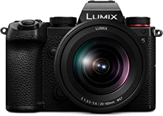 Panasonic 松下 LUMIX DC-S5E-K 系统相机,2400万像素,4K,Dual I.S,触摸屏,OLED取景器,防尘,防水滴