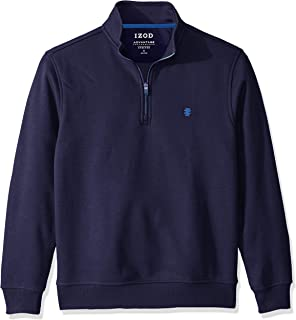 IZOD Men's Long Sleeve 1/4 Zip Performance Fleece Pullover