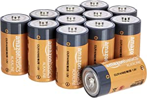 AmazonBasics 亚马逊倍思 碱性电池 AA 5号电池 12件装