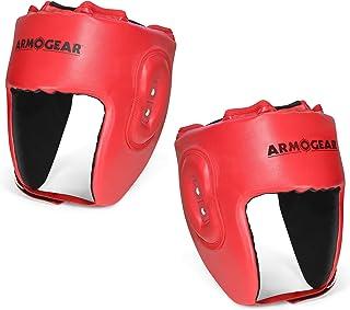 ArmoGear 拳击头盔 | 可调节缓冲拳击头盔 | 儿童和青少年拳击头套 | 适用于拳击战斗 | 2 件装适合 8 岁以上儿童