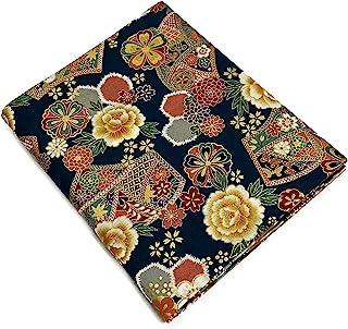 日本和服印花面料。花朵图案。* 棉 43.30 英寸 x 78.74 英寸(110 厘米 x 200 厘米)日本制造(深*)