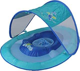 SwimWays 婴儿遮阳蓬弹性浮床(蓝色)