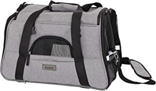 lionto 可折叠狗袋 狗箱 旅行袋 宠物运输箱 飞机袋 灰色