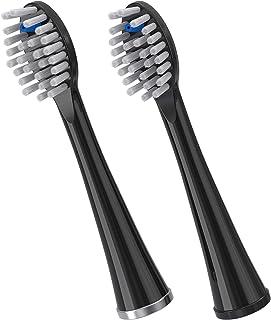 waterpik 洁碧 全尺寸替换刷头 适用于 Sonic-Fusion 牙线 SFFB-2EB,2 只装 黑色