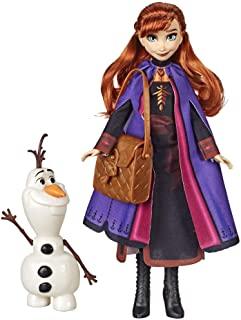 Disney Frozen 迪士尼冰雪奇缘安娜娃娃,配有可拼装的雪宝玩偶和背包配件,灵感来自《冰雪奇缘2》电影