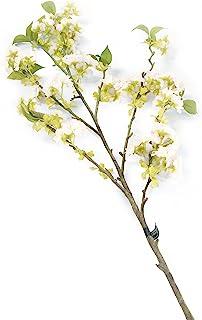 花卉优雅人造 128 厘米 单茎白色和粉色尖刺日本樱花 x 6