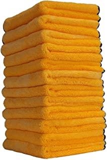 "Chemical Guys MIC_506_12 专业级优质超细纤维毛巾,金色,16"" x 16""(约40.64 厘米 x 40.64 厘米)(12 件装)"