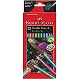 Faber-Castell 辉柏嘉 金属彩色电子铅笔 - 12支防断裂着色铅笔