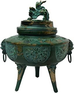 织田幸铜器 香炉 幅13.5X奥行11.5X高さ16.4cm 75-05