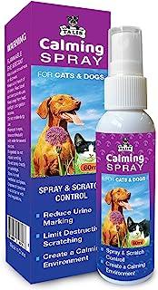 Talis 宠物*喷雾 60 毫升费洛蒙瓶适用于猫和狗,减少*补救和尿渍标记,甜蜜薰衣草芳香和天然成分舒缓精油,具有持久效果