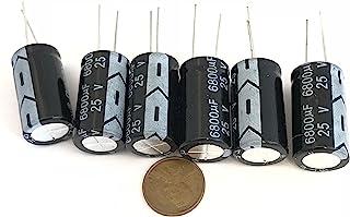 6 件 6800UF 25V 16X30mm 电解电容器铝质放射状 C34