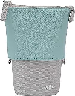 """WEDO 24273014 学生铅笔盒 """"my Butler"""",2 合 1 笔袋和管家,2 个小内隔层,易保养材料,绿松石色"""