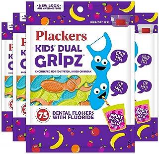 Plackers 儿童牙线,75 根(4 盒装)