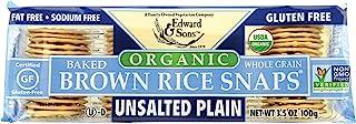 Edward & Sons 糙米切片,无盐普通糙米,3.5盎司(100g)(12包)