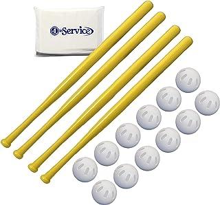 WIFFLE 32 英寸(约 81.3 厘米)塑料球棒 4 件装,棒球官方尺寸 12 件装和 NOIS 纸巾包