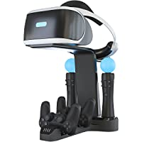 Skywin Playstation VR 充电支架 - PSVR 充电支架,可展示您的 PS4 VR 并为其充电