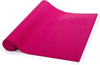 Bodico 经典健身防滑瑜伽垫,瑜伽,家庭拉伸和冥想,67 x 24 英寸(约 170.2 x 60.9 厘米),深蓝色