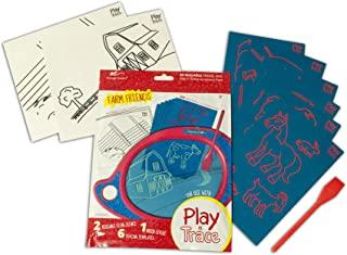 BOOGIE Board PLAY N ' Trace paperless 涂鸦 PAD 活动装–农场 Friends (acpl10001) 农场朋友(不含画板) 均码