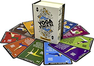 Stack 52 张瑜伽练习卡:由认证的瑜伽教练设计。包括视频说明。初学者到高级姿势和 Asana 锻炼游戏。提高健身和灵活性。(Mega 包)