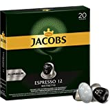 Jacobs 咖啡胶囊 Espresso Ristretto,浓度12/12,200粒兼容Nespresso,10 x…
