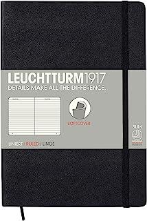 LEUCHTTURM1917 灯塔中开横格笔记本黑色软封皮(A5)