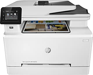 HP 惠普 Color LaserJet Pro M281fdn 多功能彩色激光打印机 (打印,扫描,复印,传真,LAN,双面打印,航空打印),白色