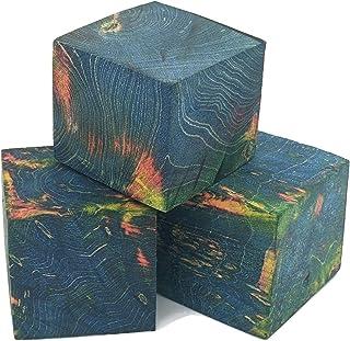 稳定木坯料,用于制作戒指和木头转动(盒老猪 - 蓝色/红色/黄色)