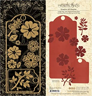 Graphic 45 Staples Dies-Large Tag, ATC Tag & Flower