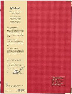 kleid 活页夹 笔记本 2毫米网格活页夹 A5 2毫米方格 8孔 红色 8411