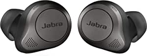 Jabra 捷波朗 Elite 85t True 无线蓝牙耳塞,钛黑色 – 先进的降噪耳塞,带充电盒,适用于通话和音乐– 无线耳机,具有卓越音质和舒适度