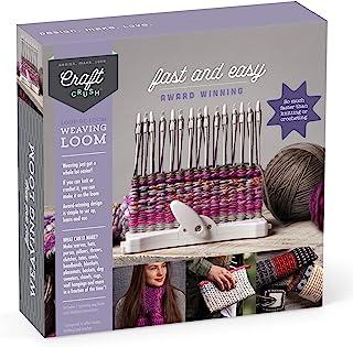 Craft Crush 编织织布机 - Learn to Weave 围巾、手套和更多 - 青少年和成人手工套装 - Loopdeloom 制造商