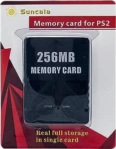 Suncala 256MB 存储卡 适用于 Playstation 2 高速存储卡 适用于索尼 PS2
