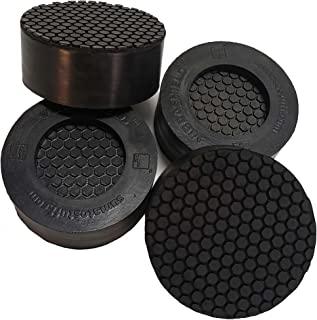 带双六角形手柄的防震垫 | 防止振动、噪音、震动和行走 | 减震防滑脚垫适用于洗衣机烘干机设备[通用款 - 4 件装]